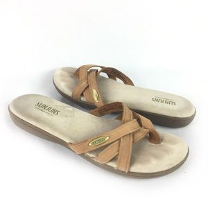 BASS | sunjuns leather sandals sz 6.5